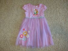 Disney Frozen Fever Sparkley Tulle Purple Dress Back to School EUC Sz 9/10