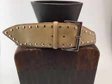 Gail Labelle Tan Studded Belt Womens Vintage S Nos 191115Mfc/Br