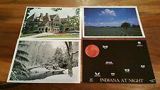 Lot of 4 Indiana Postcard postcards Tippecanoe Place/Winter at Butler/Cornfield