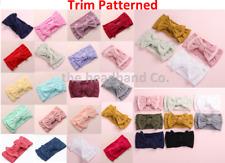 Baby Headband Cable Knit Nylon Soft Bow Turban Top Knot Headband Baby Headbands