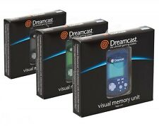 6 x Brand New VMU Visual Memory Unit SEGA Dreamcast Black Blue and Green COMPARE