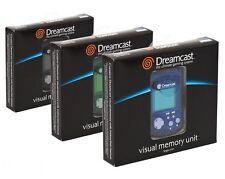 3 x Brand New VMU Visual Memory Unit SEGA Dreamcast Black Blue and Green COMPARE