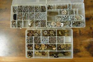 Vintage Gilbert Erector Parts Gears Screws Girders Coupling Nickel Brass Lot