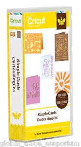 BRAND NEW Cricut 'SIMPLE CARDS' Cartridge - For all Cricut Machines 2001983