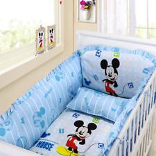 Disney Mickey Mouse Baby Crib Bedding Set (Bumper+Sheet+Pillow Cover) -Free Ship