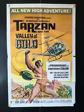 """Tarzan and the Valley of Gold (1966)- Original 1 Sheet Movie Poster-27"""" x 41"""" VG"""