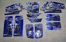 Yamaha 15pc Banshee Blue/Silver/Black Flames Decals Stickers Quad Graphics kit