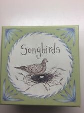 SONGBIRDS Lovely Small Plates Green/ Blue NIB Set / 4 MWW Market Cindy Sharp