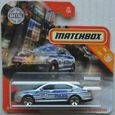 Matchbox Ford Police Interceptor silbermetallic SKY Busters Neu/OVP Radvariante