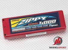 Zippy 4000mah 2s 2cell7.4 v 25 Centavos coche batería Lipo Hardcase (Roar aprobada)