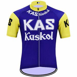 1971 Kas Kaskol Fuente Retro Cycling Jersey Short Sleeve Bike Pro Clothing Gear
