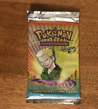 Pokemon WOTC Gym Heroes Booster Pack Factory Sealed