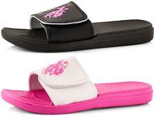 U.S. Polo Assn. Women's Premium Slides Sandal Beach Sandals Pool Flip-Flops