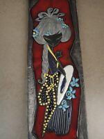 """ALLA MODA"" Wandplatte,Italian Ceramics, LIBERTAS, Rep, S. Marino, 14cm x 52,5cm"