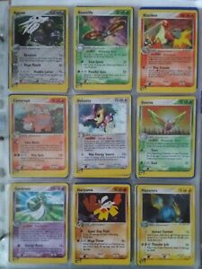 /109 COMPLETE SET EX RUBY SAPPHIRE POKEMON CARDS, NO EX CARDS INCLUDED