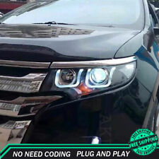 For Ford Edge Headlight Assemblies 2011-2014 HID Xenon Beam Projector LED DRL