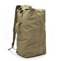 Premium Military Backpack Large Capacity Man Travel Bag Canvas Shoulder Bag