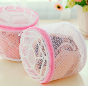 Cylinder Zip Laundry Washing Bags Mesh Net Dedicated Underwear Bras