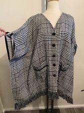 Jean Marc Philippe wunderschöne Jacke im PONCHO-Style, GR 46-50 (6), Fransen