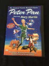 Peter Pan - DVD - 1960 -Color MARY MARTIN AUTHENTIC GOODTIMES + Bonus DVD MINT!!