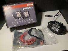 RIGID Industries SPOT Flush Mount D-Series Pro AMBER LED Lights PAIR