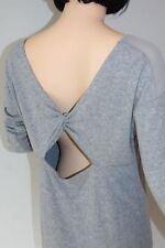 GUESS Damen KLEID Baumwolle Jersey mit Rückenausschnitt GRAU Größe 40/42 M DRESS