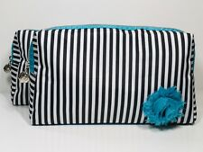 2pc Lancôme Makeup Bag Black & White Stripe