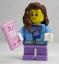 Girl W/ Music Player Phone Advent 2015 Holiday LEGO Minifigure Mini Figure Fig