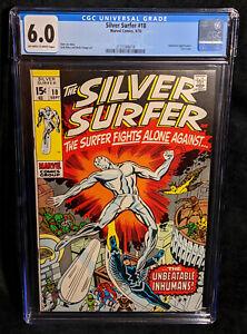 Silver Surfer # 18 CGC 6.0 FN Universal Stan Lee Jack Kirby Herb Trimpe Inhumans