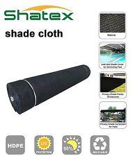 Shatex  8x50ft 90% UV Block Outdoor Sunscreen Roll Shade Cloth Sun Shelter Black