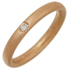 Pomellato 1P Diamond Lucciole Design Band Ring 18K Rose Gold US4.75 EU48 D5135