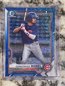 2021 bowman chrome Christopher Morel Blue Shimmer 072/150 BCP-131 Cubs 🔥🔥