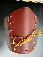 ARCHERY NEET TRADITIONAL ARM GUARD, ADJUSTABLE, FITS RIGHT/LEFT, ALL LEATH ER