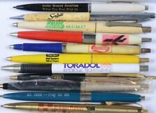 (11) Vintage ADVERTISING Pens Mechanical Pencils RUSh Toradol GENERAL TELEPHONE