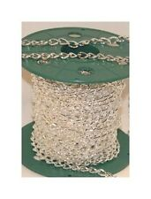 20 Ft Chunky Cable CHAIN 11x6mm Silver Plated ~ Twisted Link style Bulk Footage