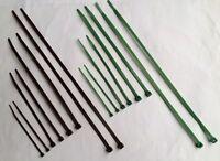 Garden Nylon cable ties - Gardening Plant-Tree Ties - Green / Brown plastic zip