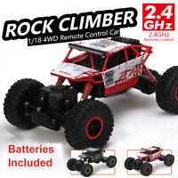 Coche Camión Eléctrico de Radiocontrol RC 4WD Juguete para Niños 2.4 GHz 1:18
