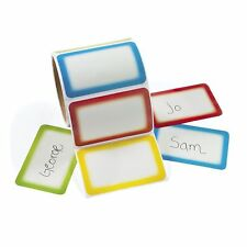 1200  Colorful Name Tag Self-Adhesive Labels  Stickers School Office Camps Party