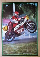 Original 1974 Gregg Hansford poster Yamaha TZ700 TZ750 superbike motorcycle