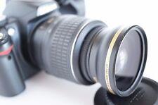 Wide Angle Macro Semi Fisheye Lens for Nikon Digital dslr d5300 d3200 d40X 52mm