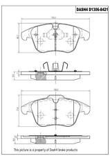 Disc Brake Pad-Ceramic Pads Front Dash 4 Brake CD1306 Fits 08-2013 LR2