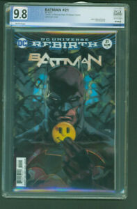 Batman 21 lenticular variant PGX 9.8 white death of the reverse Flash