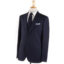 NWT $1795 BOGLIOLI 'Sforza' Navy Blue Glen Plaid Wool Suit Slim 48 R (fits 46)