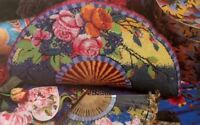Ehrman Designer KAFFE FASSETT Tapestry needlepoint Chart only FLOWER FAN cushion