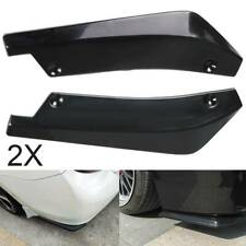 2PCS Car Rear Lip Bumper Spoiler Canard Wings Wrap Angle Splitter Anti-crash UK