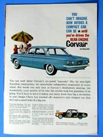 "1960 Chevrolet Corvair 700 Original Print Ad 8.5 x 11"""