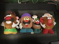Mr and Mrs potato head hasbro plush doll lot vintage rare potatohead