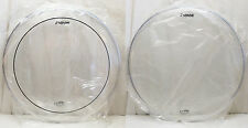"NEW Set SONOR Logo REMO Made 14"" CLEAR Floor TOM DRUM HEADS (Pinstripe)"