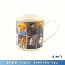 Famous Artists in History Mug - Fine China Construction with Matching Presentati