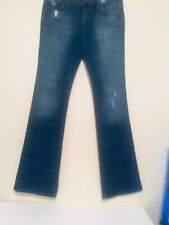 freedom of choice Womens Bootcut Distressed Jeans Blue  Sz 28